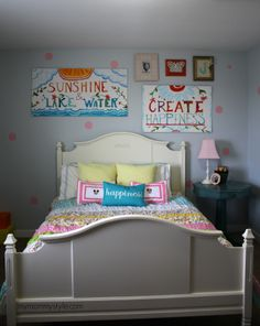 Little Girl Room Reveal from My Mommy Style ... love the paintings!