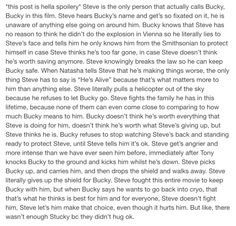 The entire movie was Steve and Bucky's love story yet again BUT THERE WASNT EVEN A HUG GODDAMNIT