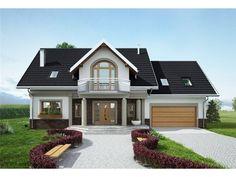 Proiect Casă cu mansardă, suprafață construită 248 mp, suprafață utilă 211 mp, 6 dormitoare, 3 băi. ID: 1677. Preț construcție de la 35960€ la roșu