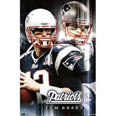 "Trends New England Patriots Tom Brady Poster by Poster Revolution. Save 1 Off!. $12.80. Wall poster. Dimensions: W 22"" x H 34""Officially licensed. Full-color team graphics. Find a vertical surface and decorate it with your team pride! This Trends International® New England Patriots poster is decorated with a full-color graphic of your favorite player in action, so you can feel like you're in on the game!"