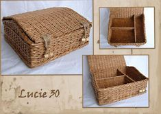Weaving newspapers. Using cardboard bottom for baskets. Ideas and master class | Плетение из газет | Постила
