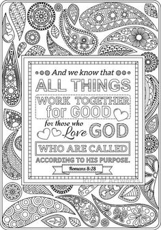 2 Printable Bible Coloring Pages Romans 8 28 And 12 Coloringpage Printables