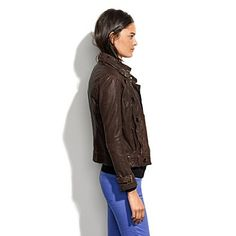 Madewell Belted Leather Bomber $495