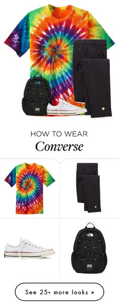 """When this used to be your Friday outfit"" by xxglamwithjessxx2 on Polyvore featuring Kate Spade, The North Face and Converse"