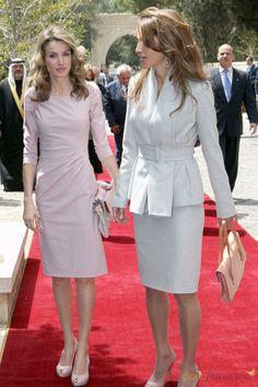 Queen Rania and Crown Princess Letizia