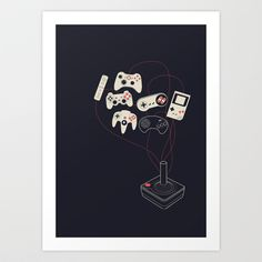 Videogame Art Print by Koning - X-Small Tech Accessories, Design Trends, Decor Styles, Videogames, Videogame Art, Art Prints, Artwork, Art Impressions, Work Of Art