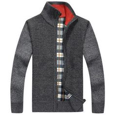Men's Sweaters, Solid Knitted jacket casual over