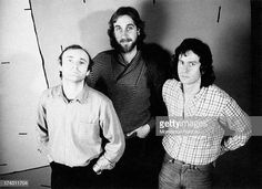 Portrait of British rock band Genesis including British singersongwriter drummer and musician Phil Collins British bassist and guitarist Mike. Band Pictures, Band Photos, Mike Rutherford, Genesis Band, Peter Gabriel, British Rock, Phil Collins, Music Artists, Rock Bands