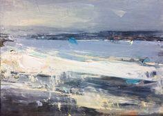 23 x Oil on board Watercolor Art Landscape, Abstract Landscape, Seascape Paintings, Landscape Paintings, Winter Landscape, Beach Art, Abstract Canvas, Figure Painting, Fine Art