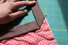 How to Bind a Quilt - the final step in finishing a quilt is adding this outside edge of the quilt. It's a very easy process once you know the tricks.
