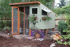 "My heart swoons for beautiful chicken coops. And although the Hen Hilton is built, it's not quite ""finished"". So I'm always looking at phot..."