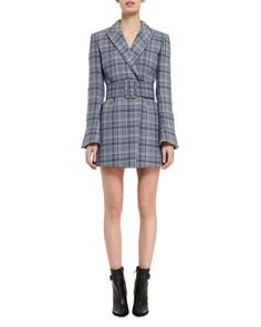 Belted+Plaid+Blazer++by+Off-White+at+Bergdorf+Goodman.
