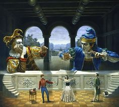 Art Of Diplomacy. Surreal Paintings that Draw inspiration from The East and West. To see more art and information about Michael Cheval click the image.