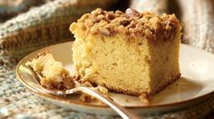 This Tre Stelle Orange Scented Coffee Cake with Pecan Streusel is simply irresistible! #ALoveAffairWithCheese #Cake