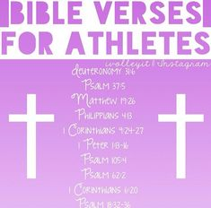 Bible verses for athletes