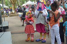 Annie and baby Clowns #Gospelfest #Barbados