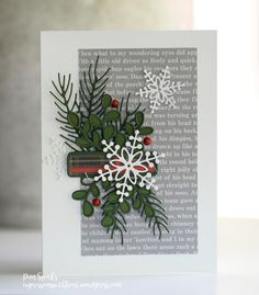 Card Making Crafts Snowflake Style 256 Rubber Stamp Shape great for Scrapbooking Ink Stamping Crafts