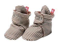 NEW ZUTANO Candy Stripe Cotton Baby Booties - Chocolate FREE SHIPPING