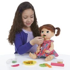Baby Alive Interactive Talking Baby Doll Super Snacks Snacking, Brunette Only 5 In Stock Order Today! Product Description: Little girls can have the love and fun of real babies with this Snacking; dol