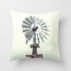 Items similar to Photo Pillow Cover Decorative Windmill Farm Decor Rustic on Etsy