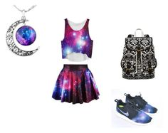 """a girl can dream....."" by wild-tiger16 ❤ liked on Polyvore featuring NIKE and SM New York"