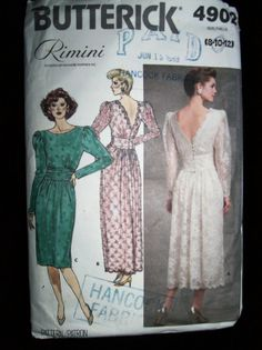 Vintage 1987 Butterick 4902  Pattern Party Formal by TheSewingDen, $8.99