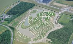 "England's Largest Nude Land Sculpture Unveiled ""Goddess of the North""  Northumberlandia naked goddess - largest goddess sculpture"