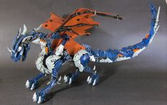 This is my last commissioned piece.  It's been fun.    Not much to say about this.  It's a dragon made with primarily bionicle parts.  It was displayed at BFNJ this year.