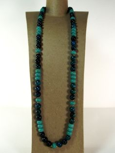Men's Chrysocolla and Turquoise Necklace  - The Teal Time Necklace by Designed By Audrey, $49.00