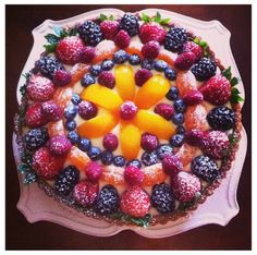Decorating Cake with Fruits Idea