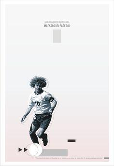Poster por Sebastián Correa, via Behance Football Posters, Football Art, Vintage Football, Carlos Valderrama, Soccer Art, Soccer Players, Graphic Design Illustration, Best Games, World Cup