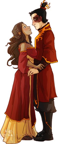 I love Katara's outfit!! (artist sadly unknown)