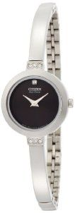 """Citizen Women's EW9920-50E """"Eco-Drive"""" Stainless Steel and Swarovski Crystal Watch"""