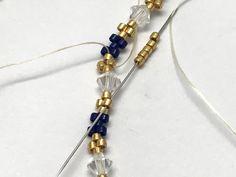 Tutorial DIY bangle bracelet weaving peyote circular with pearls Miyuki Delicas - Jewelry Beaded Bracelets Tutorial, Bead Loom Bracelets, Silver Bracelets, Bangle Bracelets, Bangles, Beads Tutorial, Armband Diy, Stud Earrings, Beaded Jewelry