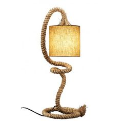 Rope Table Lamp. #NauticalDecor