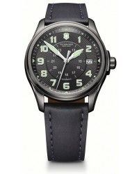 Victorinox Swiss Army Infantry Vintage Automatic With Power Reserve Men's Watch, Stainless Steel, Black Dial, 241518