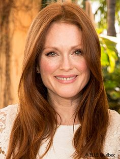 Julianne Moore...my middle aged inspiration for growing my hair out....but with bangs :)
