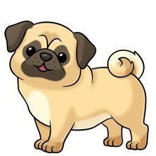 pug-clipart-d8bca3a863609bffc8630c9892d3a600.jpg (220×220)