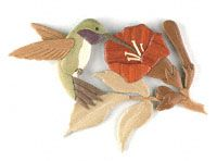Hummingbird Scroll Saw Pattern Amazing wooden Intarsia sculpture. #diy #woodcraftpatterns