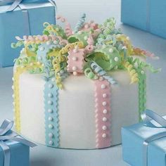 Pastel Cake, cute for baby shower or gender reveal