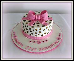 Leopard Print 21st Cake by Designer Cakes by Deb, via Flickr