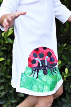 Grouchy Lady Bug Dress. This would be cute as a shirt for a boy too, maybe with a different Eric Carle character even.