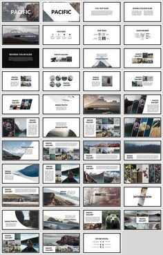 Pacific is a creative presentation template for Powerpoint that focuses on displaying albums and photos. Pacific is a creative presentation template for Powerpoint that focuses on displaying albums and photos. Graphisches Design, Slide Design, Book Design, Design Layouts, Mise En Page Portfolio, Portfolio Design, Design Presentation, Presentation Templates, Presentation Folder