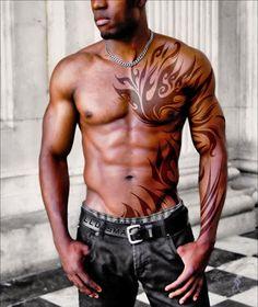Cool tattoo, beautiful abs
