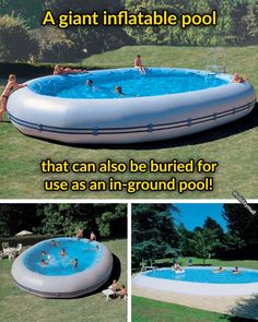 Oval Pool, Giant Inflatable, Gallon Of Water, Summer Diy, In Ground Pools, Bury, Fun Projects, Cool Things To Buy, Unique Gifts