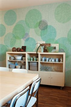 Bubble wallpaper by Wall & Decò. Their collection also has lots of awesome designs like brick, stone, wood, and more