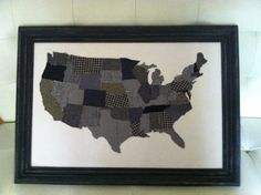 Upcycled Black and White Tweed USA by hatchettdesigns on Etsy, $125.00