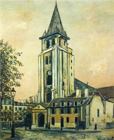 St. Germain Church - Maurice Utrillo, unknown date