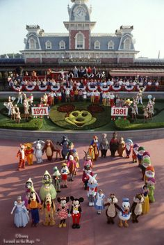 20th Anniversary in Disney World      Love seeing all of the characters in this photo!!