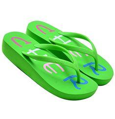 cacbe278f3430 OPIYNO Women s Amable Casual Blue EVA Mid Heel Wedge Flip Flops Thong Sandals  5.5M US